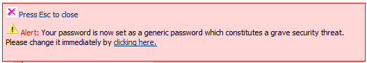 Kloxo password warning